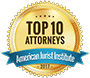 Top 10 Attorneys American Jurist Institute 2017